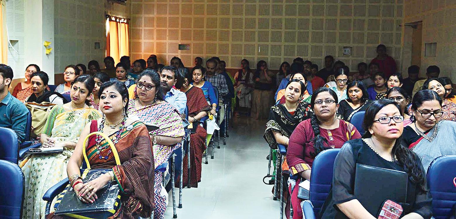 Teachers at the workshop at Jadavpur University.