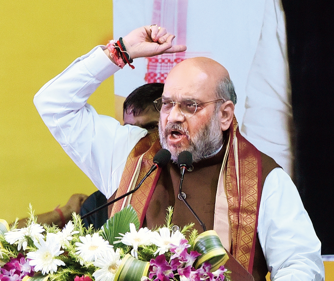 Amit Shah in Calcutta on Tuesday.