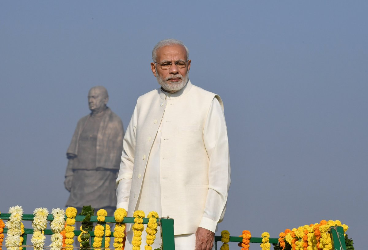Prime Minister Narendra Modi at the inauguration of the Statue of Unity on Wednesday