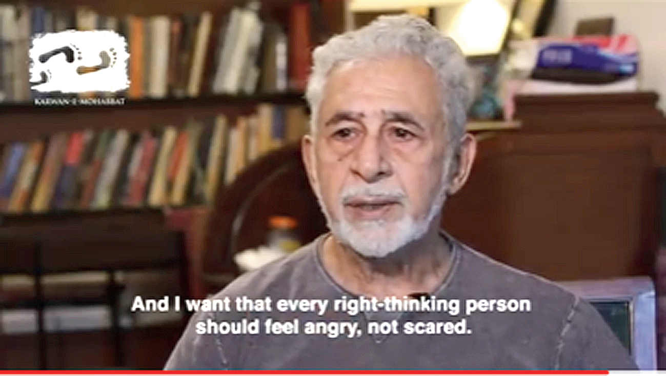 Why Naseeruddin Shah is angry (and why you should be too)