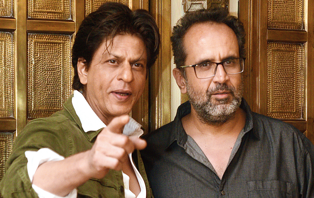 Shah Rukh with his Zero director Aanand L. Rai