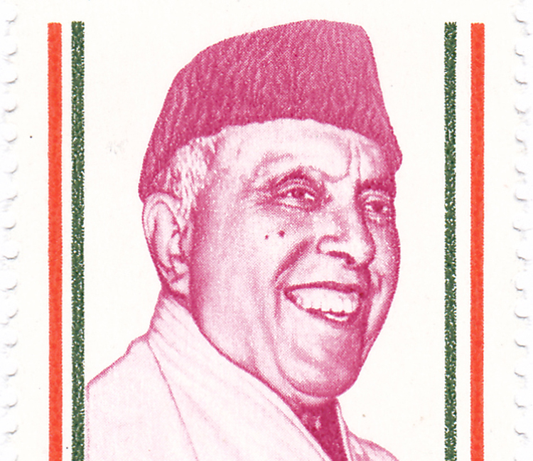 Sheikh Abdullah on a 1988 Indian postage stamp