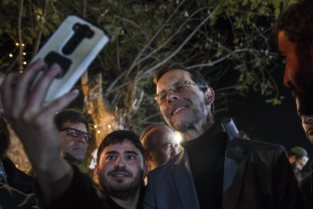 Zehut party leader Moshe Feiglin attends an election campaign event in Sderot, Israel.