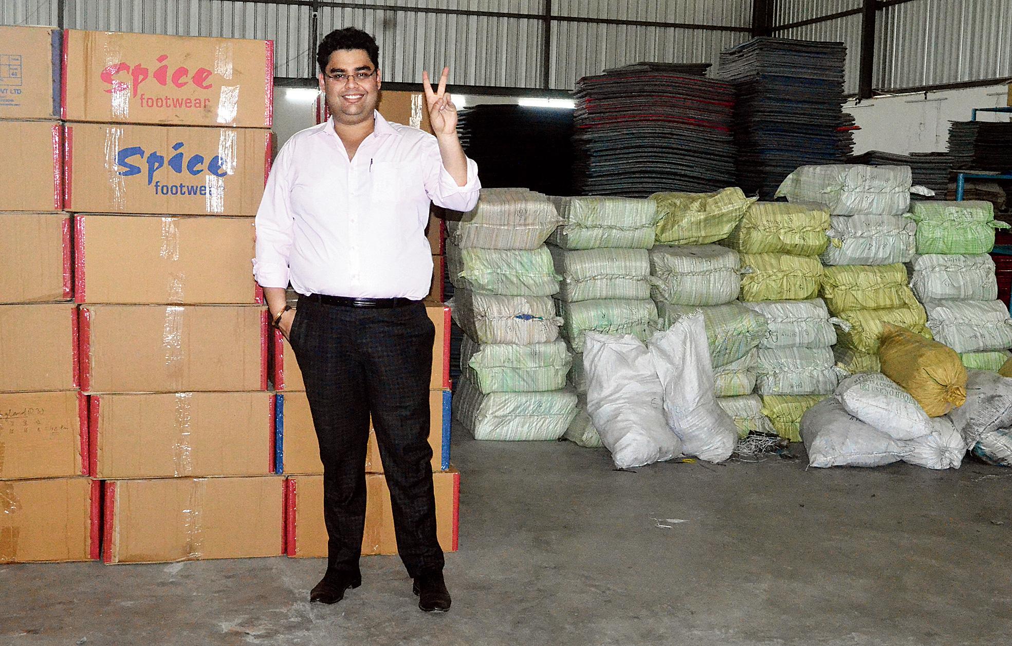 Spicing it up: Arjun Bahri Dhawan at his factory in Govindpur near Dhanbad.
