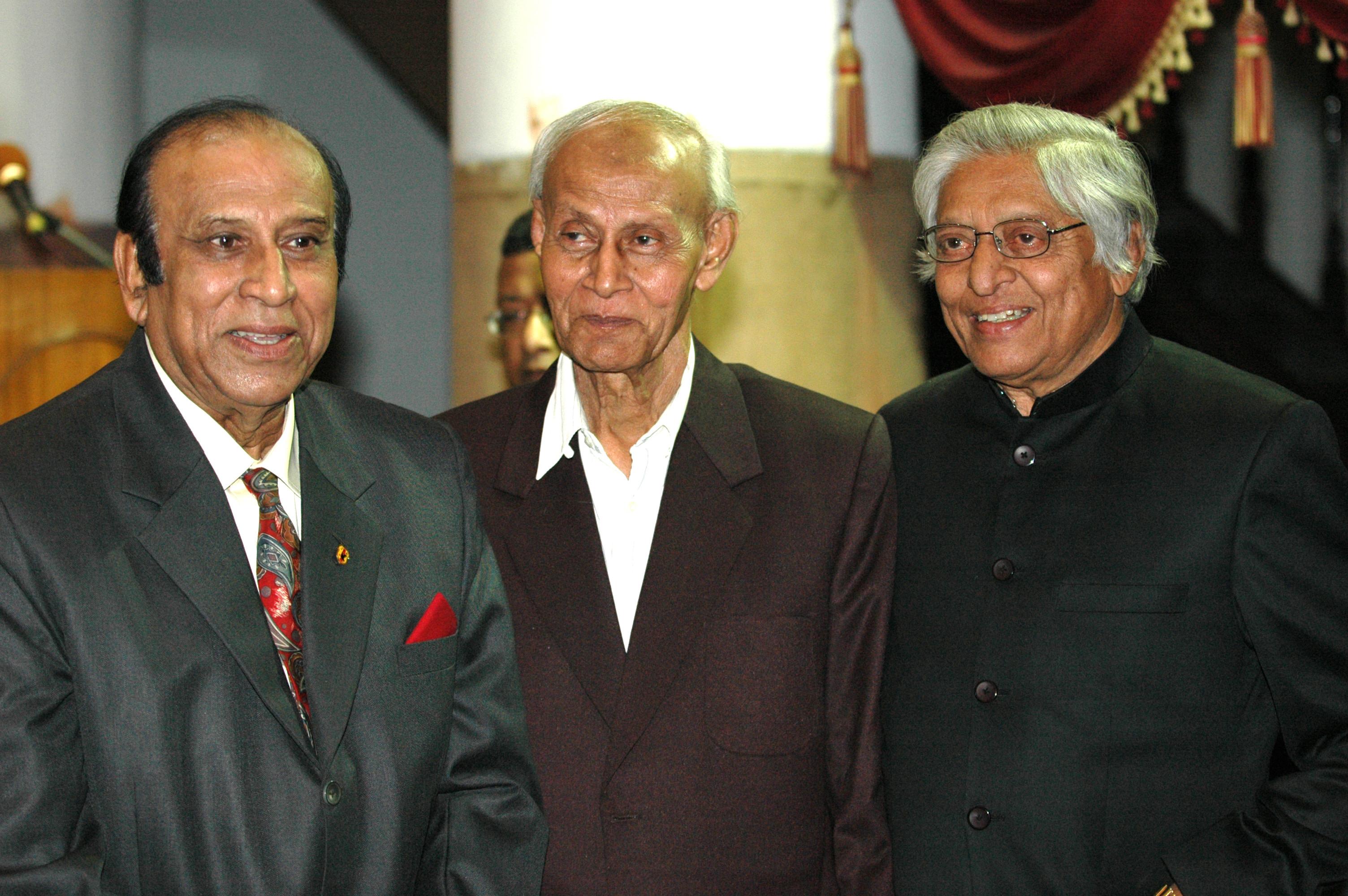 Legends among legends; PK with Chuni Goswami and Sailen Manna.