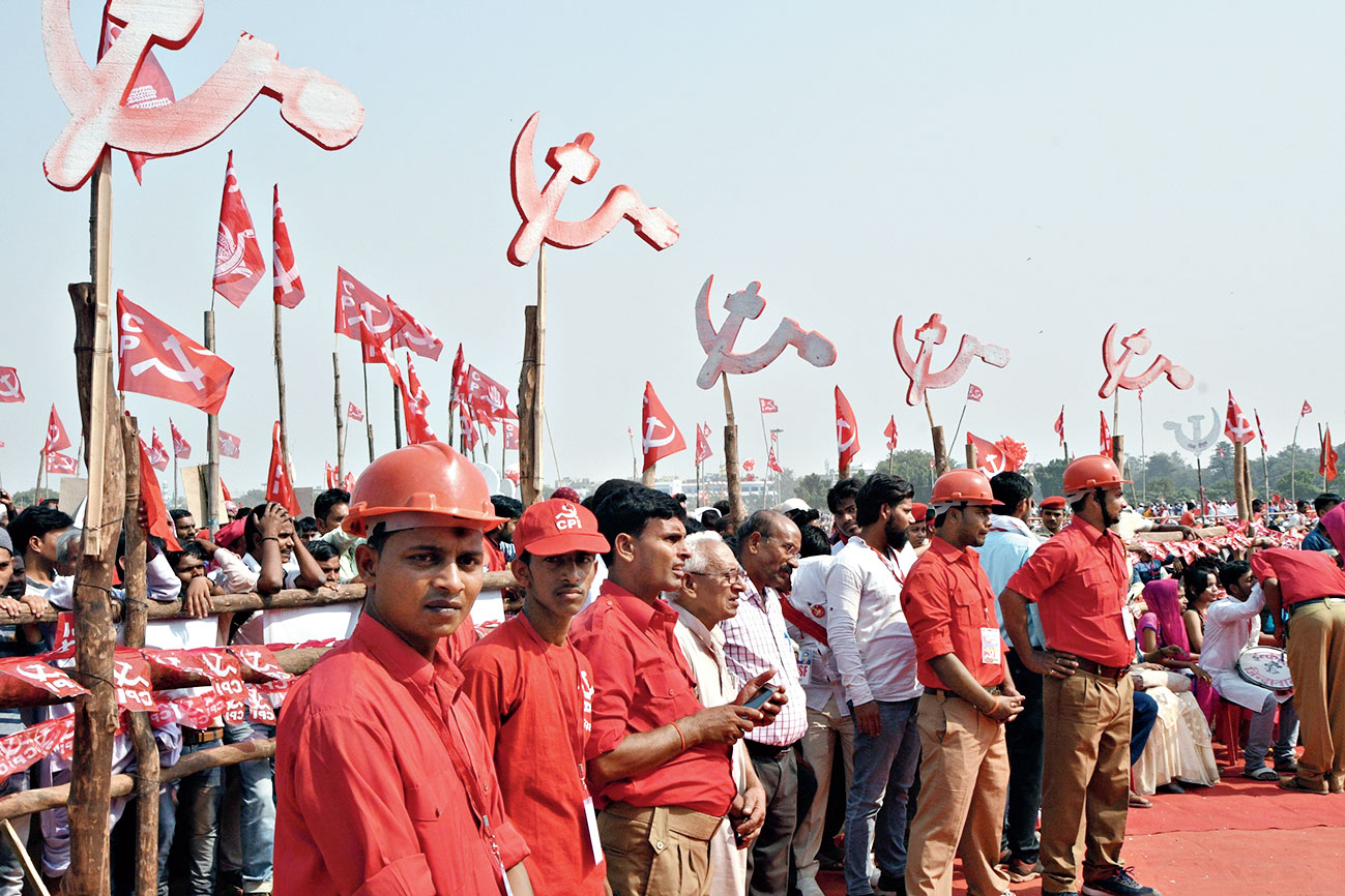 Cadres at the rally.