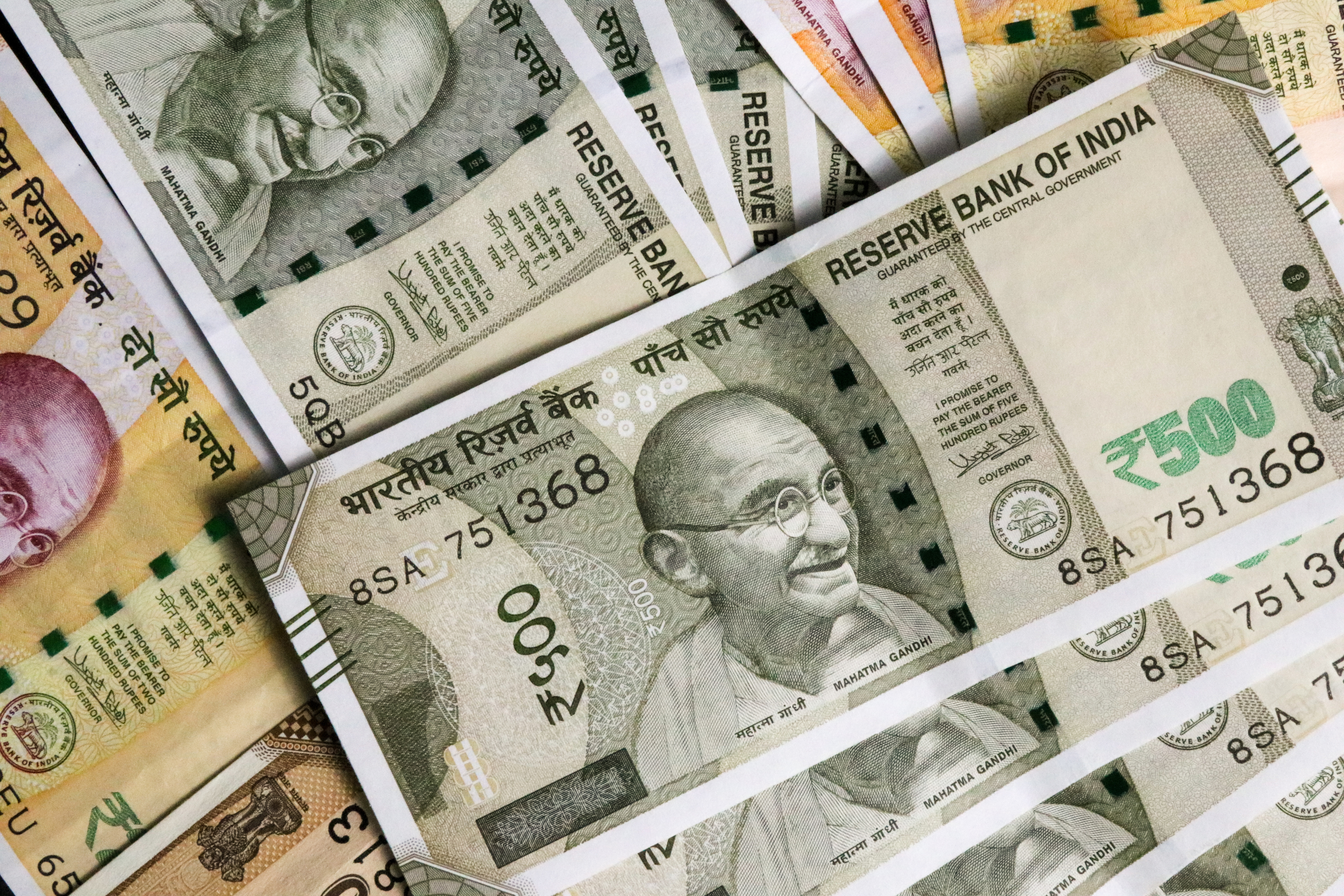 Indian currency.