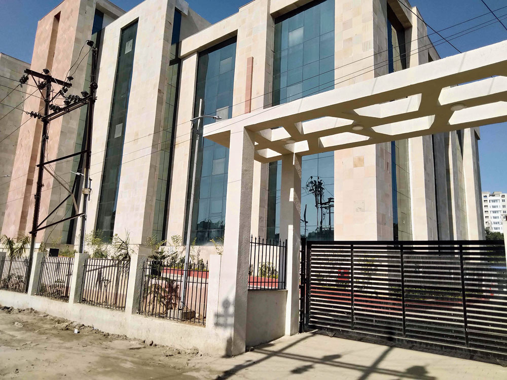 The new excise building on Kanke Road in Ranchi on whose fourth floor the ED was allotted space.