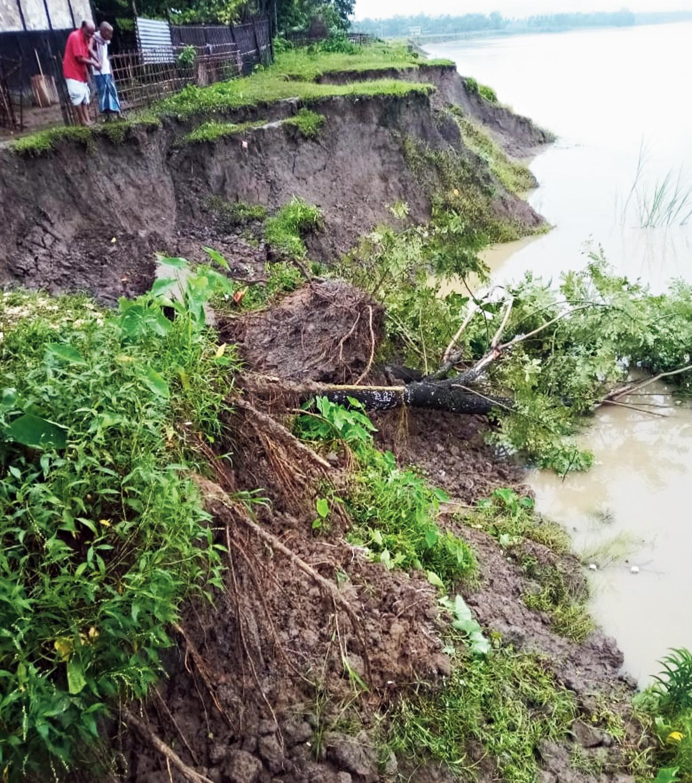 A portion of eroded land in Tukergram.