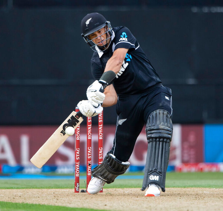 Ross Taylor bats during a One Day International cricket between India and New Zealand at Eden Park in Auckland on Saturday