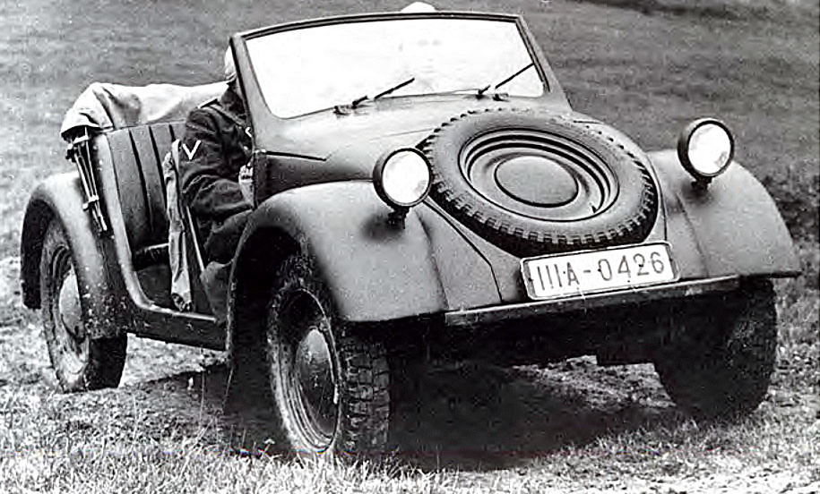 The Volkswagen Beetle was the basis for military vehicles during World War II. The Type 62, which resembles the Beetle most closely, was the prototype for a light go-anywhere vehicle