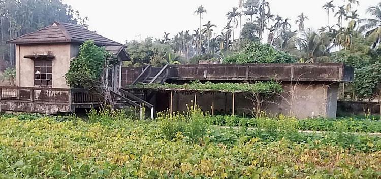 A defunct water supply plant at Usharani in Karimganj district