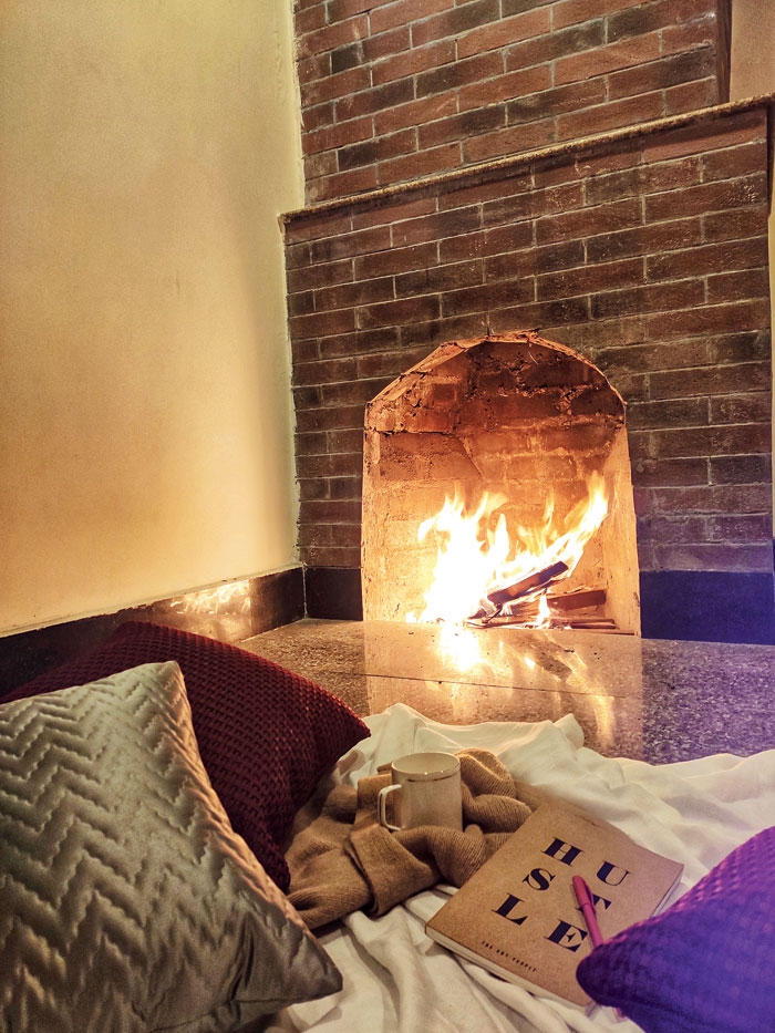 Cosying up in front of the fireplace is one of the most comforting things you can do while at the resort