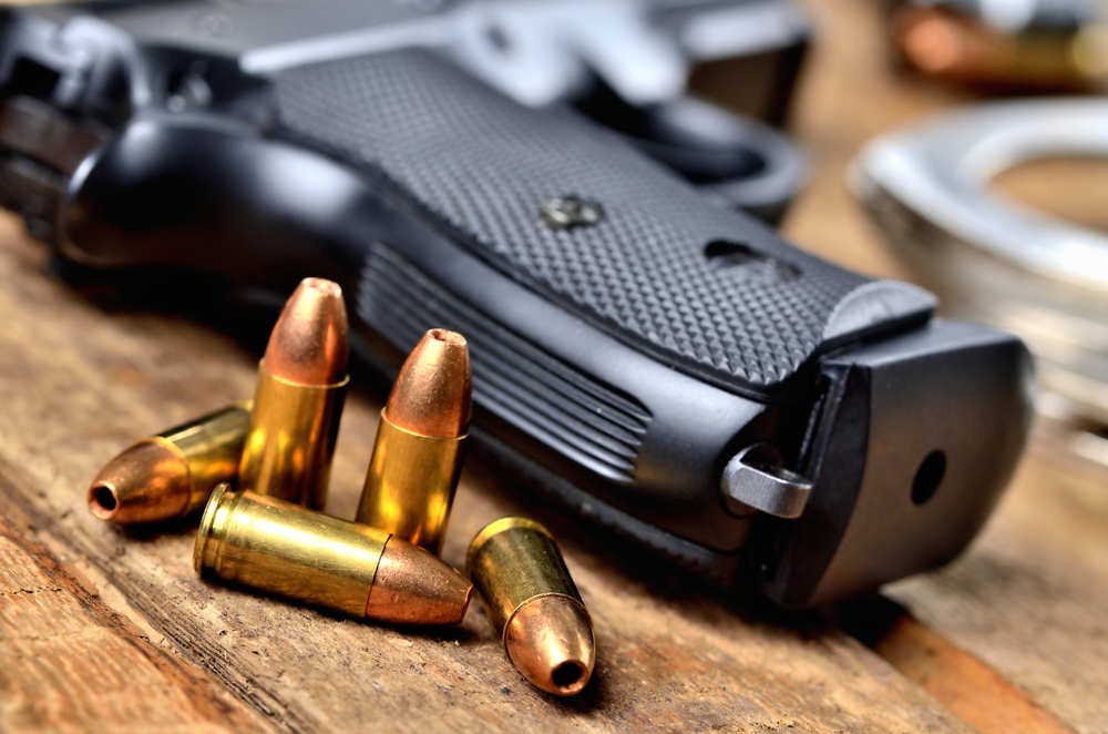 Seven pistols, seven magazines and 24 live bullets among other thnigs were recovered from the spot