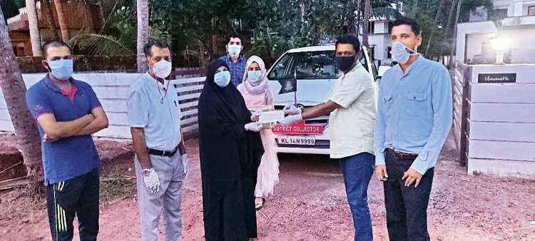 A family in Kasaragod, whose six members recovered from Covid-19, donates Rs 1 lakh to the Kerala Chief Minister's Distress Relief Fund saying gratitude should not be expressed in words alone.