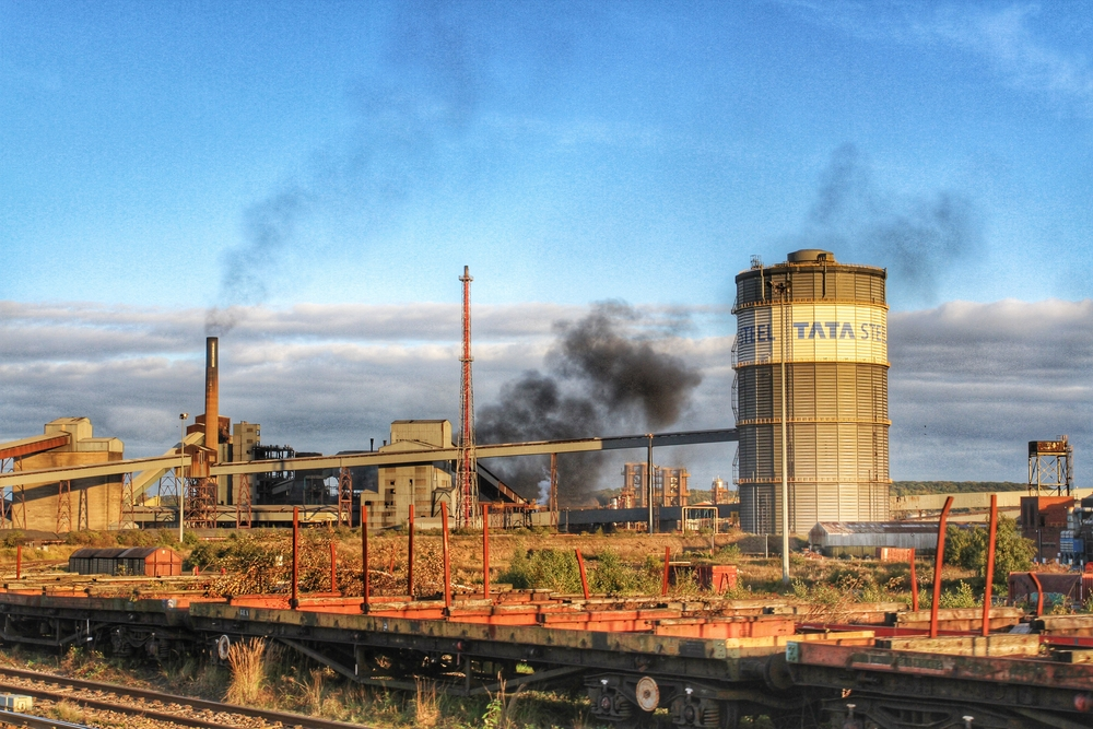 A Tata Steel plant in Scunthorpe, UK