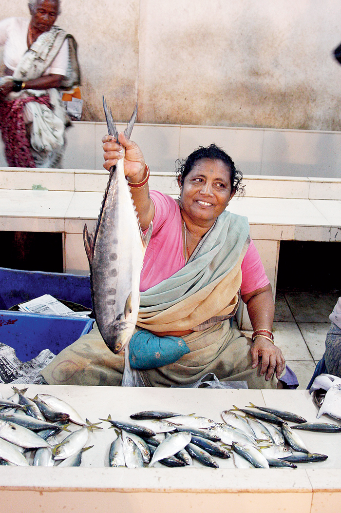 Monsoon brings in a whole new selection of fish caught in river estuaries