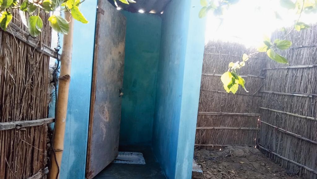A rural toilet in Dhangdhwa panchayat of Raxaul district.