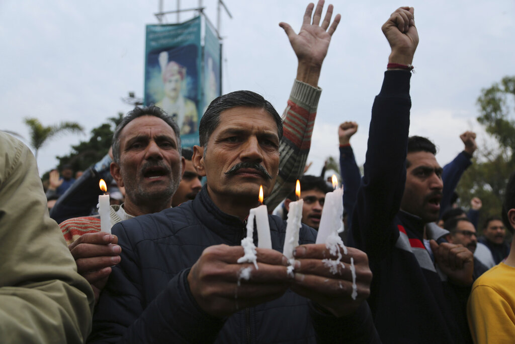 A candlelight vigil in Jammu for the CRPF jawans killed in Pulwama.