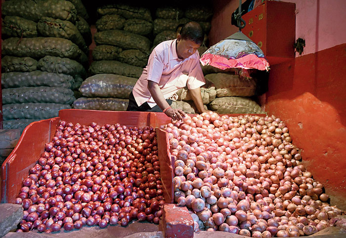 The theft, on the intervening night of Sunday and Monday, took place at a time onion prices have rocketed, selling at anything between Rs 60 and Rs 70 in markets in Bihar, around three times the normal range of Rs 20-25, and even higher in some other states.