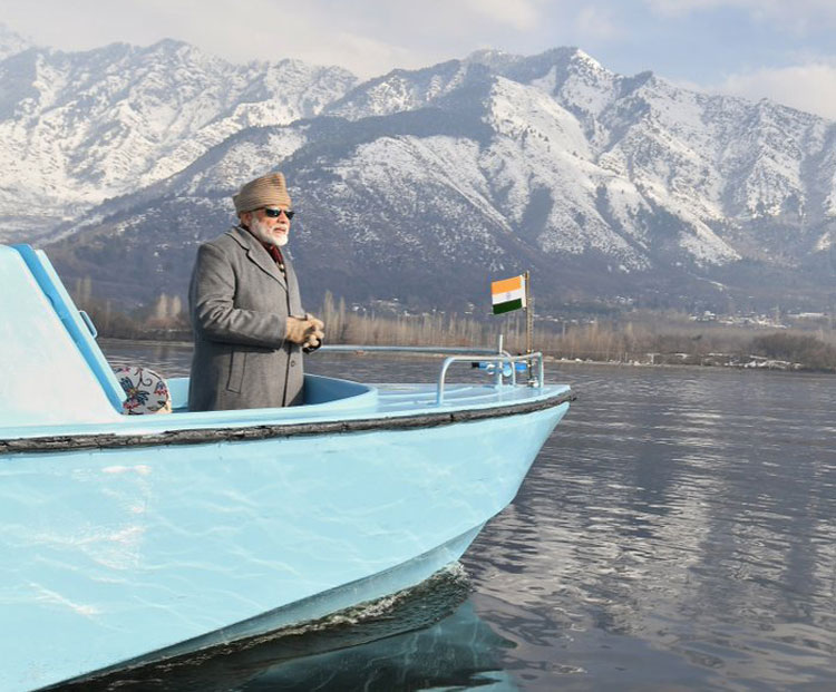 Even mountains wave at Modi
