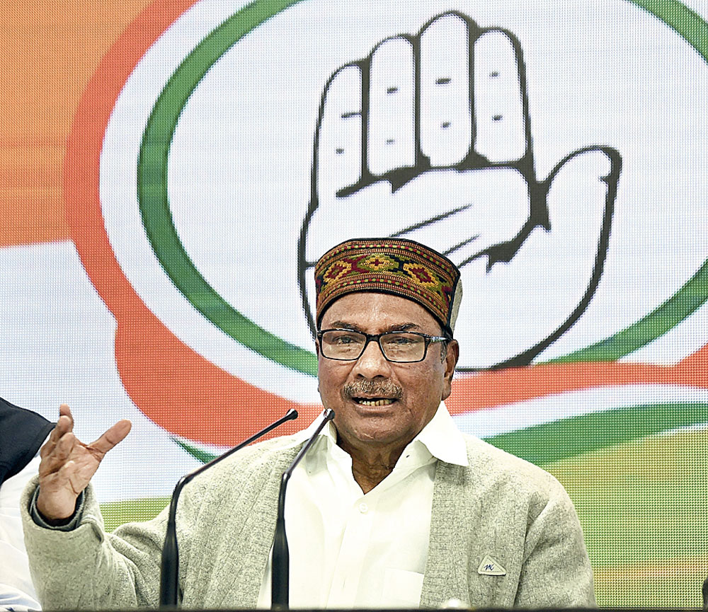AK Antony addresses the media conference in New Delhi on Tuesday.