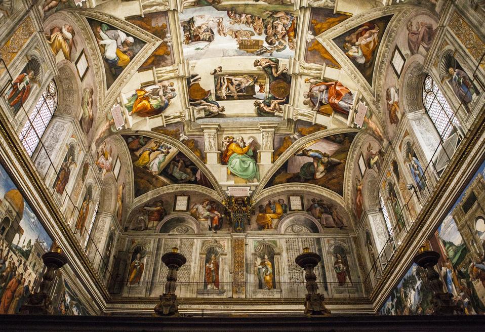 Interiors of the Sistine chapel, Vatican city, Rome, Italy.