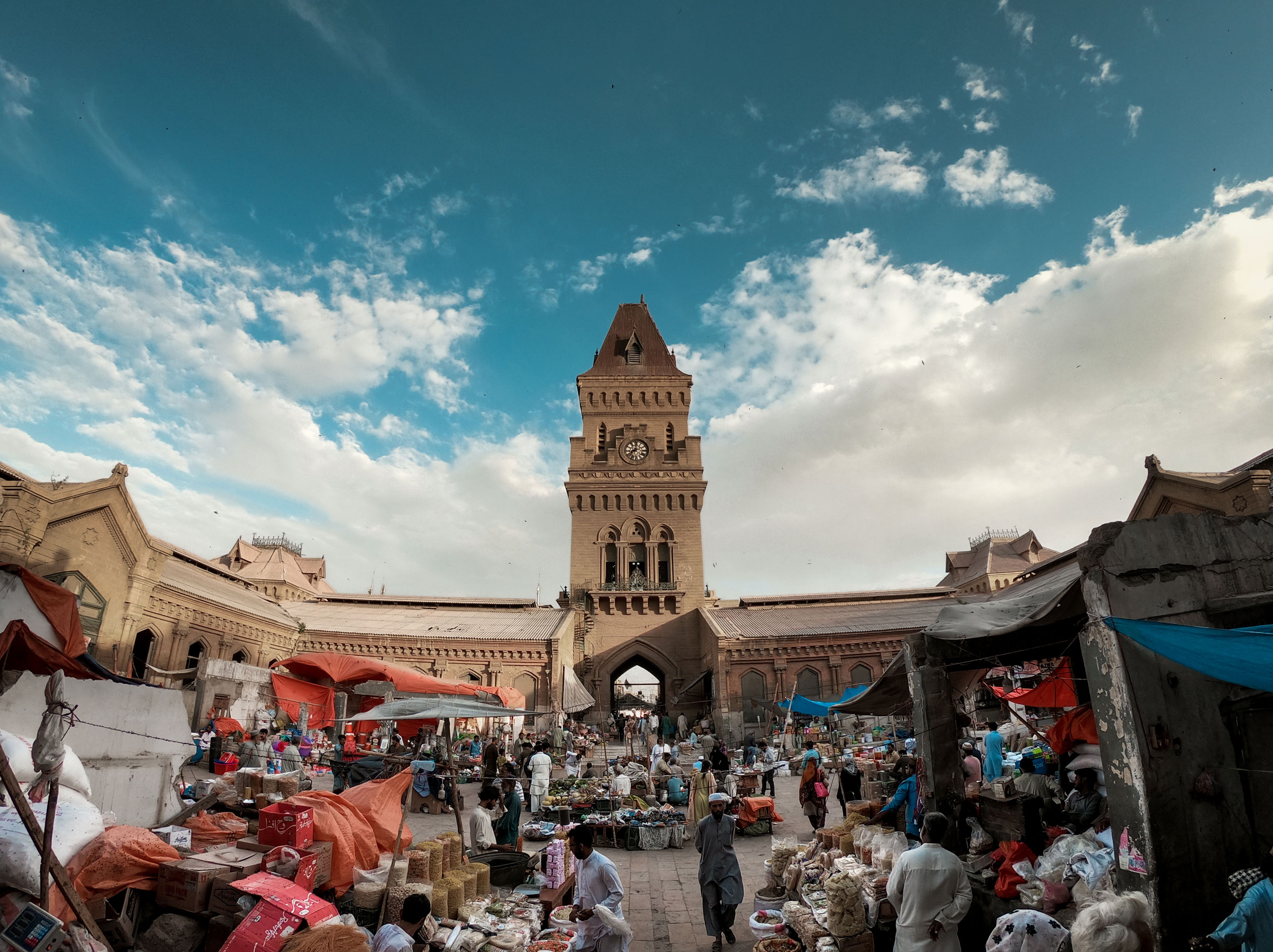 Empress Market in Karachi. People of Pakistan continue to suffer inflation and high utility bills. Prices of basic necessities have skyrocketed. Many small businesses have shut down, people have lost their jobs in all industries, and even big businesses are having a hard time.