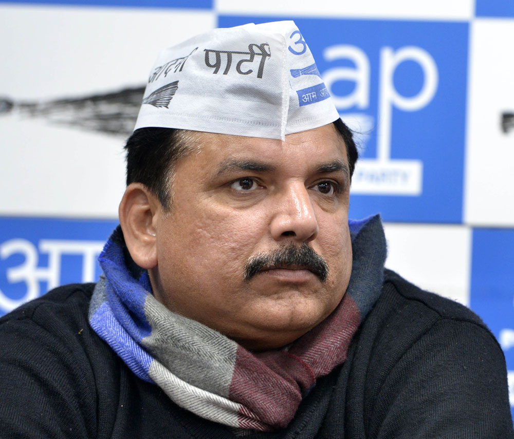 Raising the issue in the Rajya Sabha on Tuesday, AAP leader Sanjay Singh said the Israeli company had insulted the Father of the Nation.