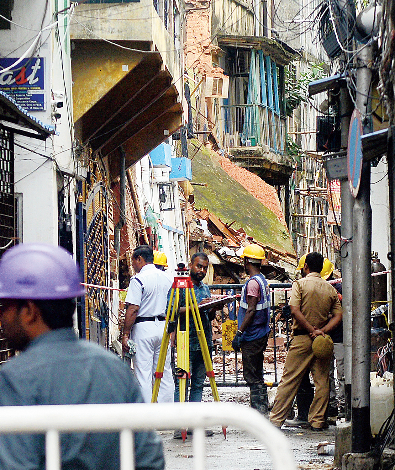 Syakrapara Lane in Bowbazar which was lined with jewellery traders' shops.