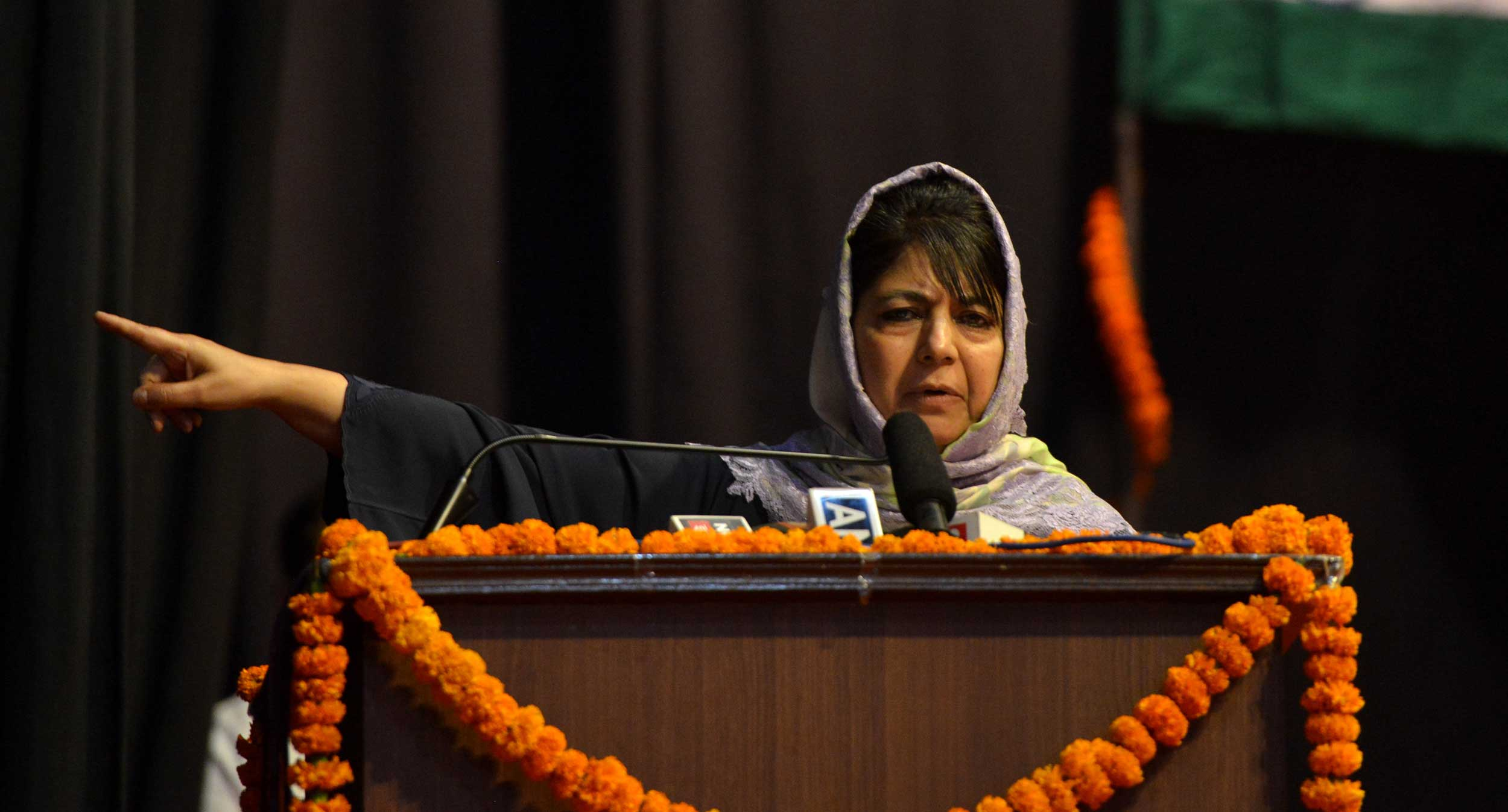 Peoples Democratic Party president Mehbooba Mufti.