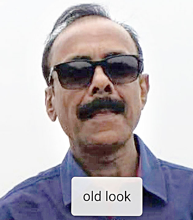 His retired IAS officer look.