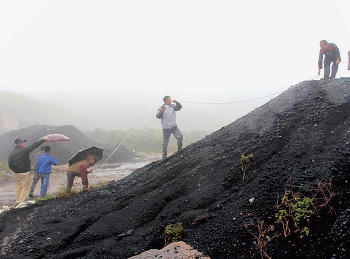 A coal mine in East Khasi Hills