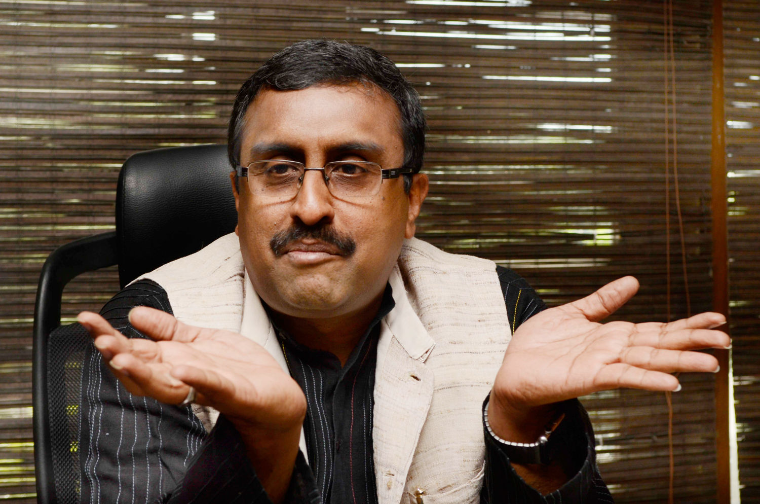 Ram Madhav, the BJP's point man in Jammu and Kashmir, was forced to withdraw a comment that insinuated a Pakistan hand had brought together political rivals Omar Abdullah and Mehbooba Mufti 24 hours ago to stake claim to power in the state.