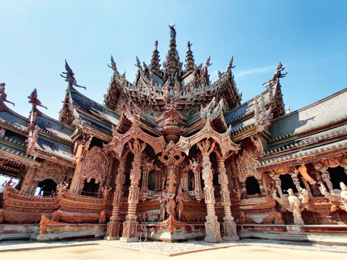 Sanctuary of Truth, inaugurated in 1981, is in constant state of being built and is home to intricate design on teak and is a centre of Thai culture and art with live performances and religious corners