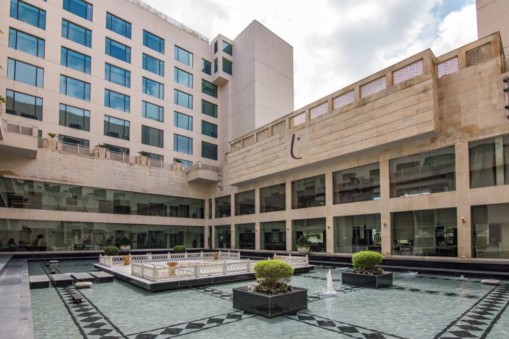 The Lalit Jaipur. The department had launched raids at 13 premises