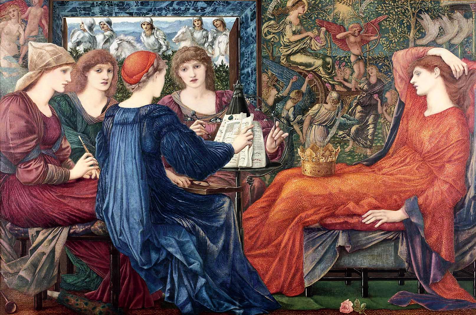 Edward Burne-Jones's Laus Veneris (In Praise of Venus), painted in 1873-75