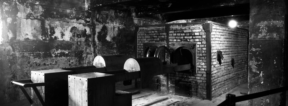 The crematorium near gas chamber one at the former Nazi death camp of Auschwitz I in Oswiecim