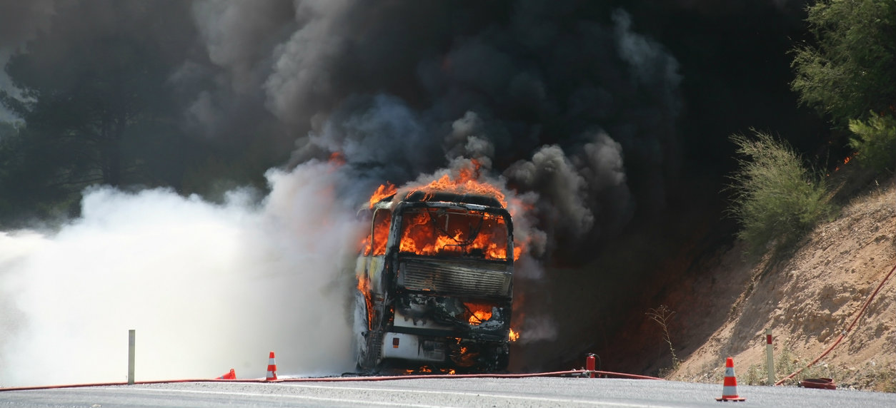 Representative image: Chinese website Shangyou News cited a survivor who said the fire broke out at the back of the bus, quickly overcoming passengers who did not have time to escape.
