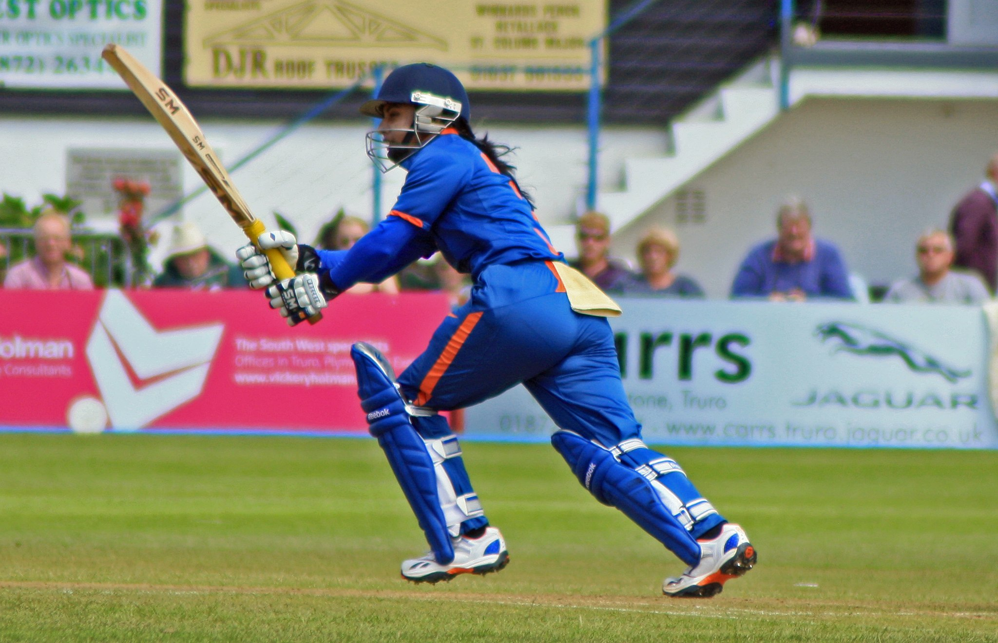 Mithali Raj batting for India women against England in Truro in 2012