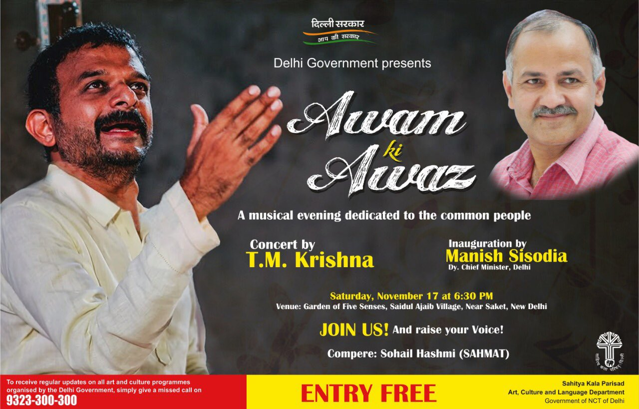 In concert: TM Krishna's vocals, AAP's awaz