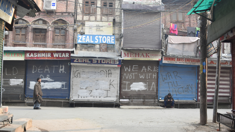 A shutdown observed in Kashmir valley on November 26, 2018.