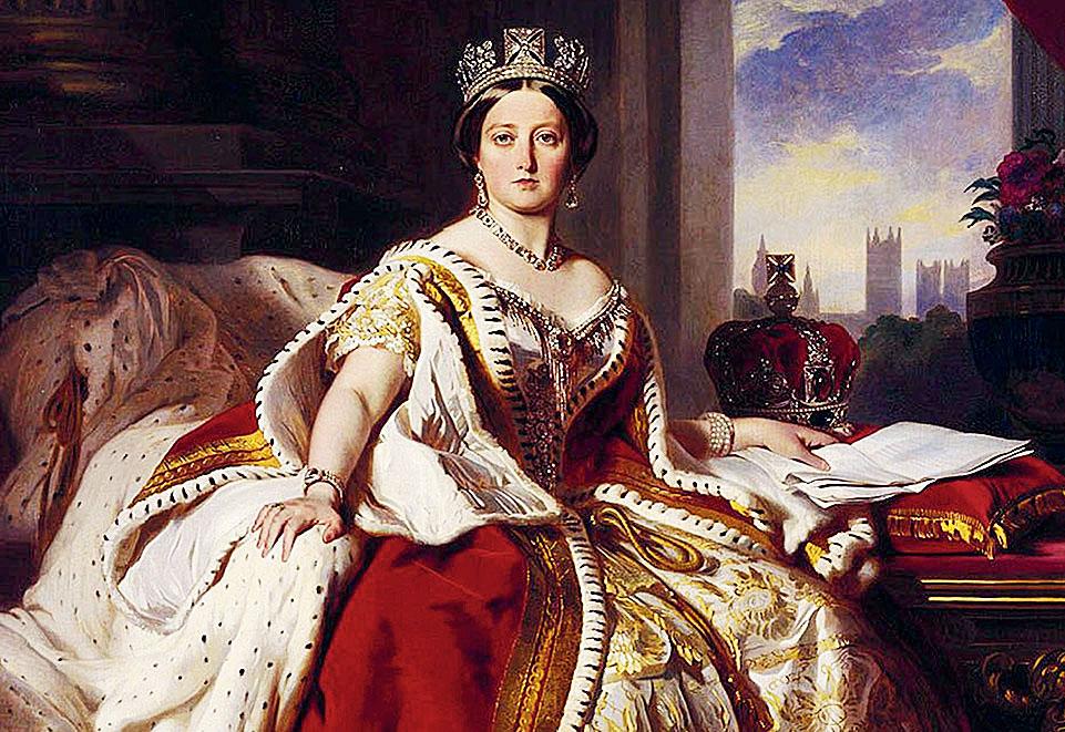A portrait of Queen Victoria by court favourite Franz Xaver Winterhalter