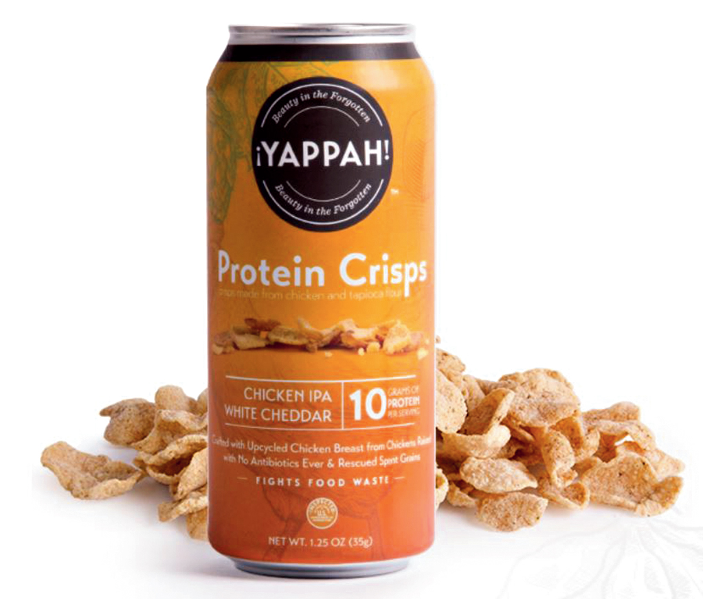 A can of ¡Yappah! crisps