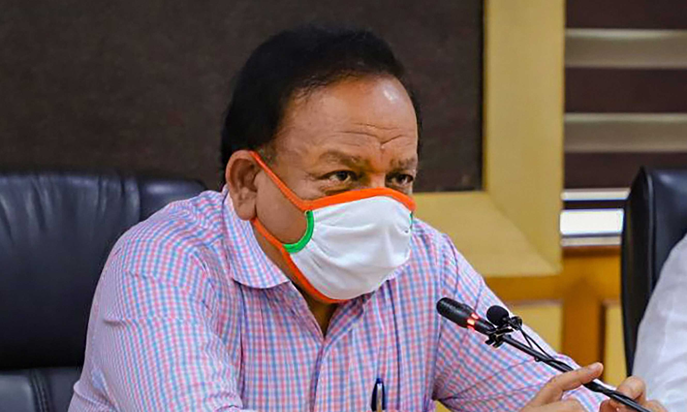 Health minister Harsh Vardhan.