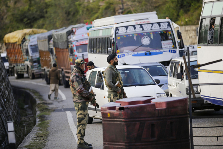 Troopers in Jammu on Friday