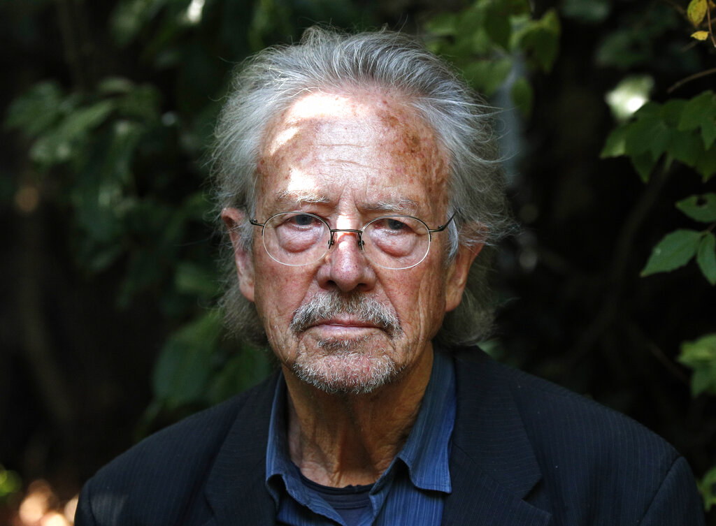 Austrian author Peter Handke in his garden at his house in Chaville near Paris, on Thursday, October 10, 2019. The politics of Handke, who was awarded the 2019 Nobel Prize, are indeed shameful