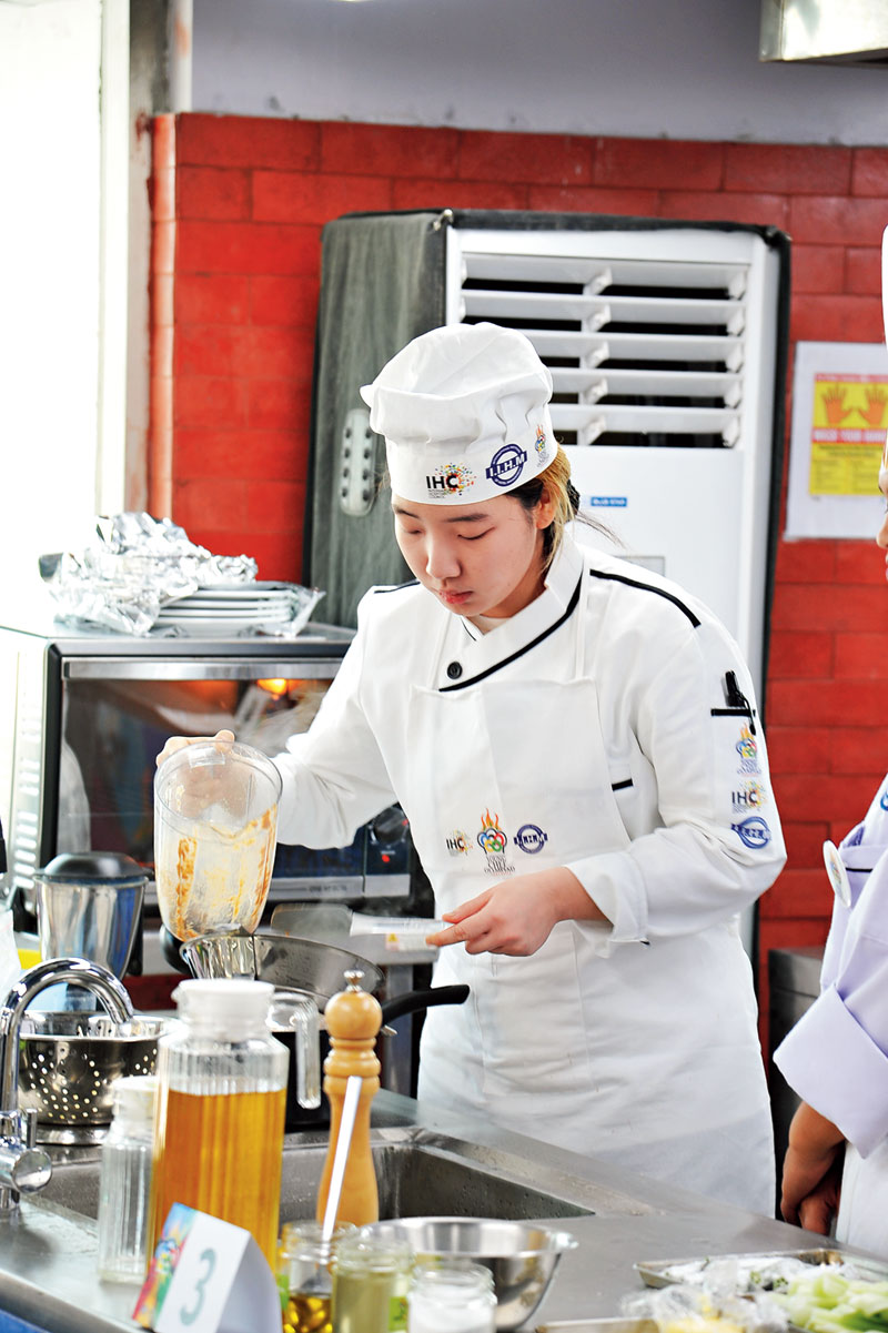 "Eunjeong Jeong from South Korea's Woosong University is never nervous and believes in enjoying life every moment. ""I am happy and proud of myself to be in the top 10. I completed the dish but I wish I could show some more skills,"" said the 22-year-old who loves to dance."