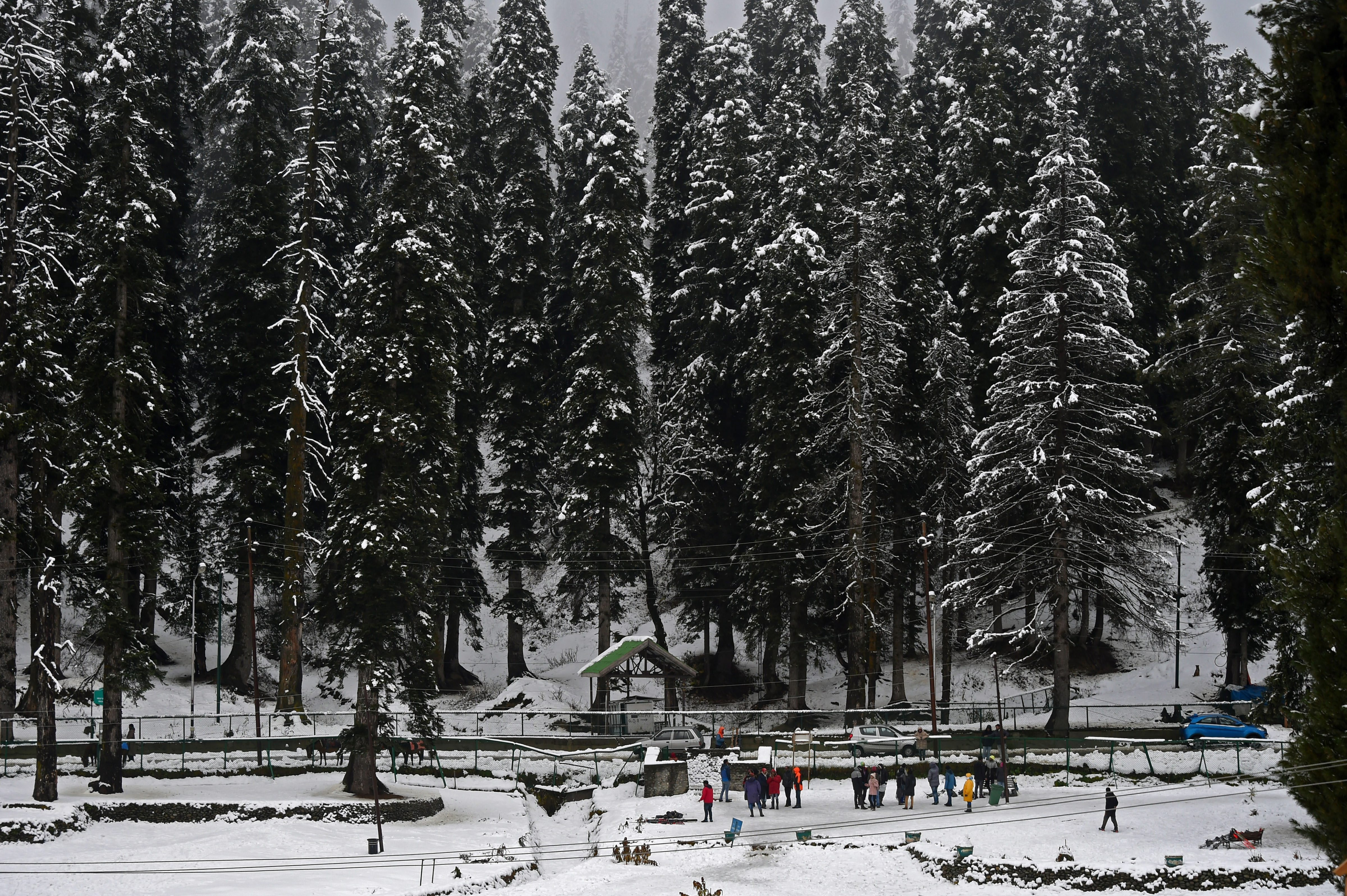 The ski resort of Gulmarg got nearly six inches of snow.