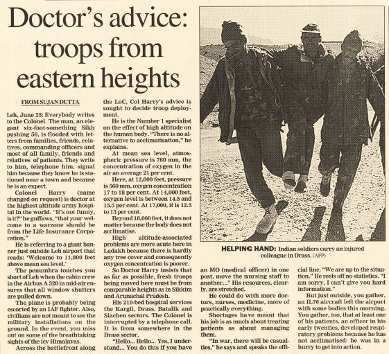 Kargil reports from 1999: Doctor's advice -- nothing works for the dead